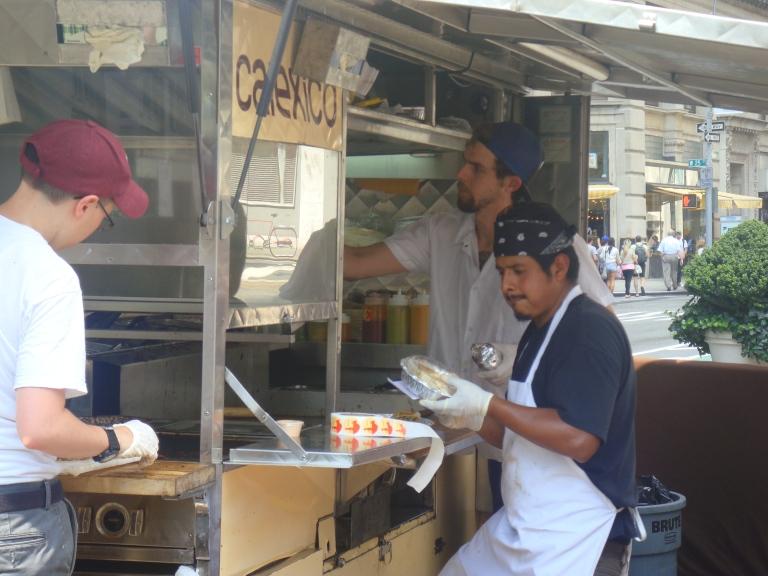 Puesto de Street Food en Nueva York